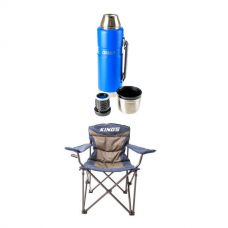 Adventure Kings Throne Camping Chair + 1.2L Vacuum Flask
