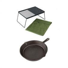 Camp Fire BBQ Plate + Skillet Pan