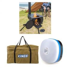 Adventure Kings Camp Oven/Stove + BBQ Canvas Bag + Mini Lantern