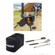 Adventure Kings Camp Oven/Stove + 40L Duffle Bag + BBQ Tool Set