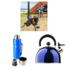 Adventure Kings Camp Oven/Stove + 1.2L Vacuum Flask + Camping Kettle