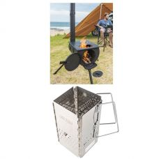 Adventure Kings Camp Oven/Stove + Charcoal Starter