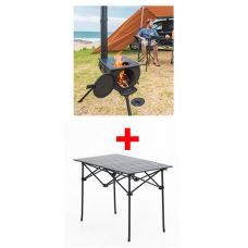Adventure Kings Camp Oven/Stove + Aluminium Roll-Up Camping Table
