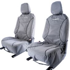 Kings Universal Premium Canvas Seat Covers (Pair) | Universal DIY Fit | 14oz Polycotton Ripstop Canvas | Airbag Compliant