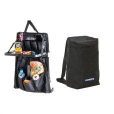 Adventure Kings Dirty Gear Bag + Premium Car Seat Organiser with Folding Table
