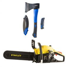 Stanley Camping Chainsaw + Kings Three Piece Axe, Folding Saw and Knife Kit