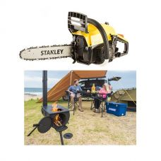 Stanley 37cc Camping Chainsaw + Kings Camp Oven Stove