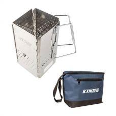 Kings Charcoal Starter + Kings 8L Cooler Bag