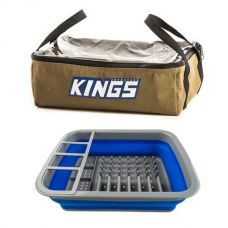 Adventure Kings Clear Top Canvas Bag + Collapsible Dish Rack