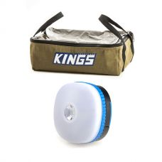 Adventure Kings Clear Top Canvas Bag + Adventure Kings Mini Lantern