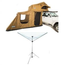 Adventure Kings Roof Top Tent + 6-man Annex + Kings Camping Clothesline