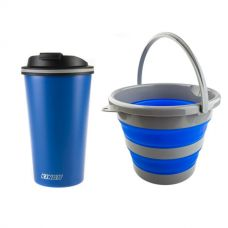 Adventure Kings Collapsible 10L Bucket + 410ml Travel Mug