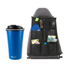 Kings 410ml Travel Mug + Car Seat Organisers