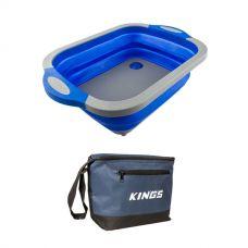 Kings 8L Cooler Bag + Adventure Kings Collapsible Sink