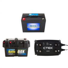 Adventure Kings AGM Deep Cycle Battery 98AH + Battery Box + CTEK D250SE DC/DC 20A Dual Battery System