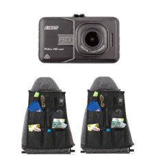 Adventure Kings Dash Camera + 2x Car Seat Organisers