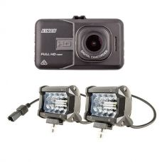 "Adventure Kings Dash Camera + 4"" LED Light Bar"