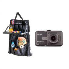 Adventure Kings High-Def Dash Camera + Premium Car Seat Organiser with Folding Table