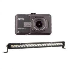 "Adventure Kings Dash Camera + 20"" LETHAL MKIII Slim Line LED Light Bar"