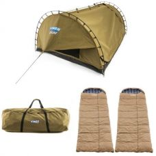 Adventure Kings 'Big Daddy' Deluxe Double Swag + 2x Premium Sleeping bag + Swag Canvas Bag