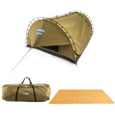 Adventure Kings 'Big Daddy' Deluxe Double Swag + Swag Canvas Bag + Mesh Flooring 5m x 2.5m