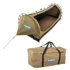 Kings Deluxe Escape Single Swag + Deluxe Single Swag Premium Canvas Bag