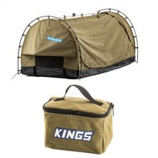 Kings Deluxe Escape Single Swag + Toiletry Canvas Bag