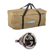 Deluxe Single Swag Premium Canvas Bag + 2in1 LED Light & Fan