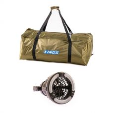 Kings Deluxe Single Swag Polyester Bag + 2in1 LED Light & Fan