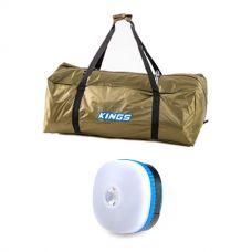 Kings Deluxe Single Swag Polyester Bag + Mini Lantern