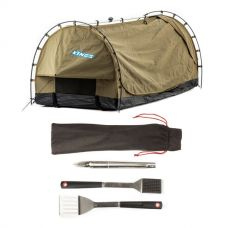 Kings Deluxe Escape Single Swag + BBQ Tool Set