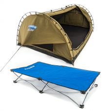 Kings Deluxe Double Swag Big Daddy + Kings Folding Pet Bed