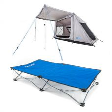 Adventure Kings Swift 5-person Tent + Kings Folding Pet Bed