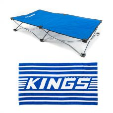 Adventure Kings Beach Towel Twin-Pack + Kings Folding Pet Bed