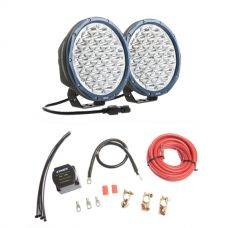 """Kings OSRAM Domin8r X 9"""" LED Driving Lights (Pair) + Dual Battery System"""