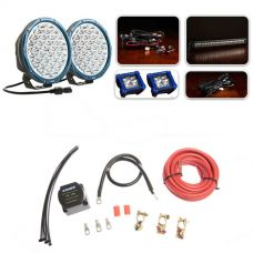 """Ultimate 9"""" Domin8rX Driving Light Pack fitted with OSRAM LEDs + Dual Battery System"""