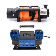 Domin8r X 12,000lb Winch with rope + Thumper Max Dual Air Compressor MkII
