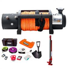 Domin8r X 12,000lb Winch with rope + Hercules Complete Recovery Kit + Offroad Jack 48""