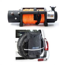 Domin8r X 12,000lb Winch with rope + Kings Premium 48L Dirty Gear Bag