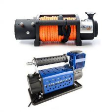 Domin8r X 12,000lb Winch with rope + Thumper Air Compressor MKIII