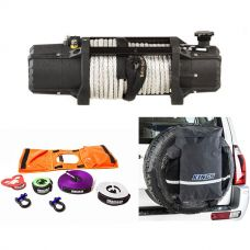 Domin8r Xtreme 12,000lb Winch + Hercules Essential Recovery Kit + Kings Premium 48L Dirty Gear Bag
