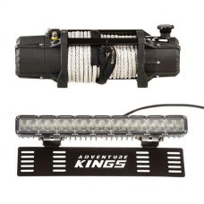 """Domin8r Xtreme 12,000lb Winch + 15"""" Numberplate LED Light Bar"""