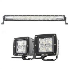 "Kings 32"" Deluxe Lightbar + 3"" Work Lights (Pair)"