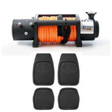 Domin8r X 12,000lb Winch with rope + Adventure Kings Deep Dish Floor Mats Set of 4