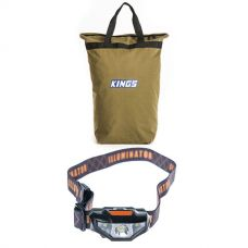 Adventure Kings Doona/Pillow Canvas Bag + Illuminator LED Head Torch