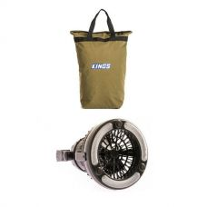Adventure Kings Doona/Pillow Canvas Bag + 2in1 LED Light & Fan
