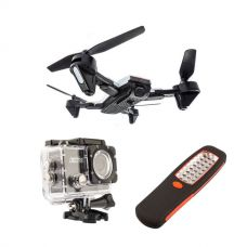 Adventure Kings Cyclone Drone + Adventure Kings Action Camera + Illuminator 24 LED Work Light