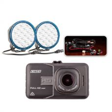 "Essential 7"" OSRAM LED Domin8rX Driving Light Pack + Adventure Kings Dash Camera"