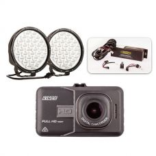 "Essential 9"" Driving Light Pack + Adventure Kings Dash Camera"
