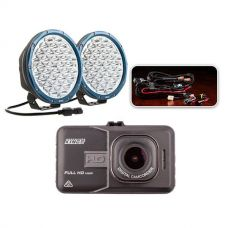"Essential 9"" OSRAM LED Domin8rX Driving Light Pack + Adventure Kings Dash Camera"